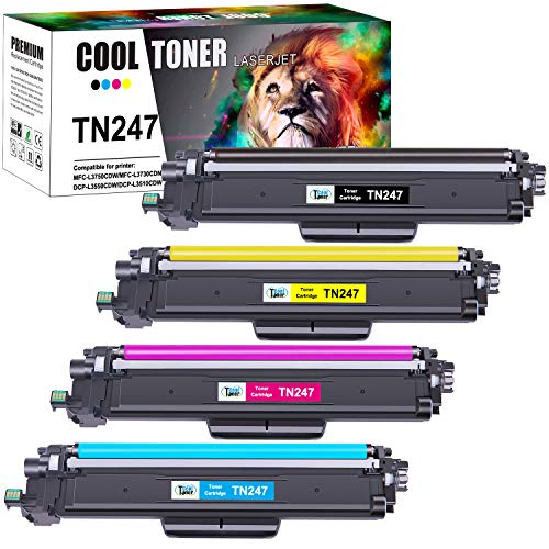 Cool Toner Kompatibel fur Brother TN 243CMYK TN247 Replacement fur TN 247 TN 243 TN243 fur Brother MFC L3750CDW MFC L3770CDW DCP L3550CDW HL L3230CDW HL L3210CW MFC L3710CW MFC L3730CDN HL L3270CDW