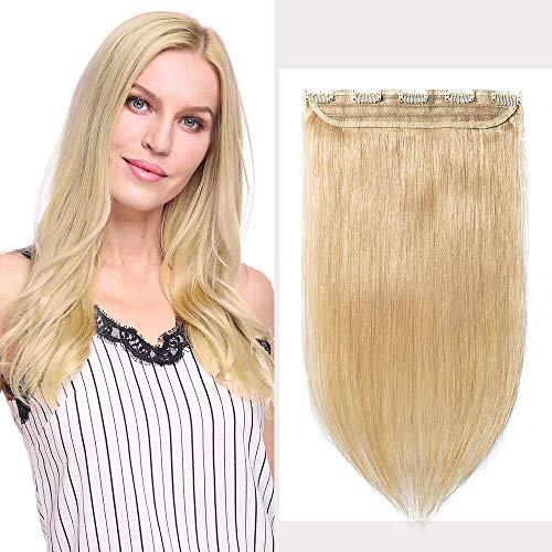 Extensions Echthaar Clip In 1 Stück Haarverlängerung Remy Echthaar (45cm-50g #24 Natürlich Blond)