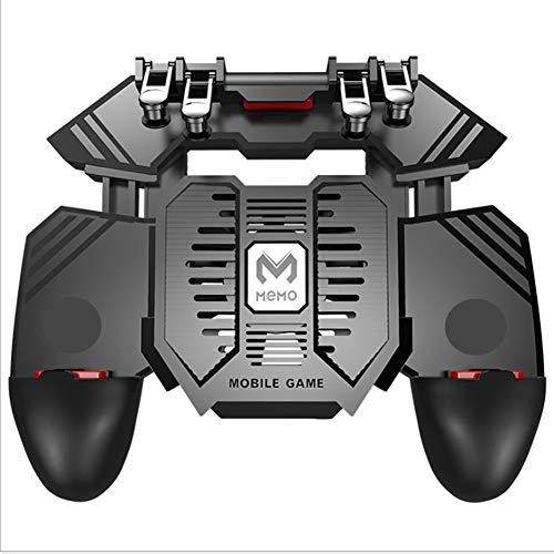 SCYDAO Mobile Gaming Controller Spiel Joystick Mit Lufter 6 Finger Fur PUBGCall of DutyFotnite Gaming Grip Ausloser Fur 47 65 Ios Android Phone Gaming Grip