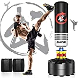 GIKPAL Freestanding Punching Bag 69'' - 182lbs Heavy Boxing Bag Free Stand Kickboxing Bag with 2 Hand Warps for Adults Youth Men