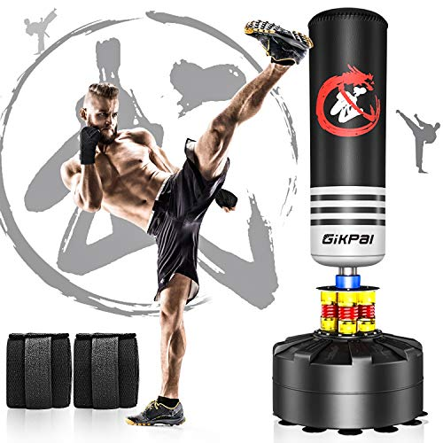 GIKPAL Freestanding Punching Bag 69'' - 182lbs Heavy Boxing Bag Free Stand...