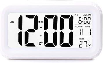 ساعة منبه رقمية ذكية ابداعية باضاءة ليلية، توضع على الطاولة او المكتب او بجانب السرير، ساعة الكترونية تعمل بالبطارية، لا ت...