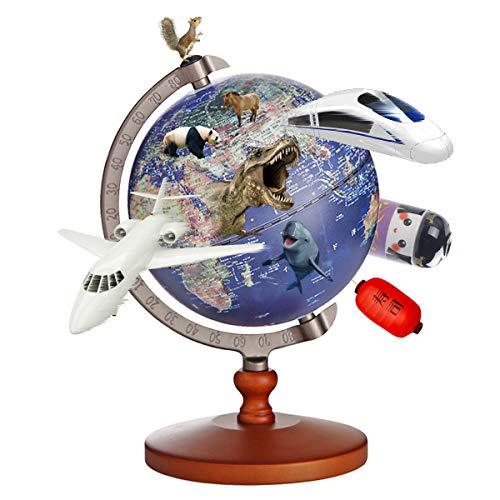 地球儀 子供 AR しゃべる地球儀 球径13cm 日本語 3Dで学べる LEDライト付き 3WAY 知育玩具 ベッドサイドランプ 地勢タイプ スケール付き 回転可能 真珠フィルム 雰囲気が良い コンパクト 防水性 先生おすすめ小学生の地球儀 子供 新入学の