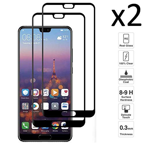 iGlobalmarket [Pack Ahorro - 2 Unidades] Protector de Pantalla 3D Huawei P20 Pro, Cristal Templado, sin Burbujas, Alta Definicion, 9H Dureza, Resistente a Arañazos