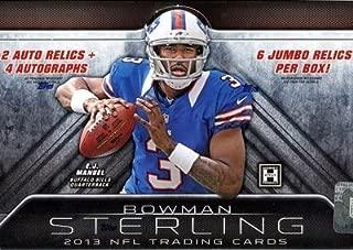 1 (One) Box - 2013 Bowman Sterling Football Hobby Box (6 Packs per Box) - Possible Geno Smith, E.J. Manuel, Kiko Alonso, Giovani Bernard, and/or Eddie Lacy Rookie Cards!!!