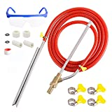 Rdutuok Pressure Washer Sandblasting Kit,Sand Blaster for Pressure Washer with Replacement Nozzle Tips,Protect Glasses,1/4 Inch Quick Disconnect 5000 PSI for Abrasive Cleaning