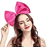 BUYITNOW Women Huge Bow Headband Cute Bowknot Hair Hoop for Halloween Cosplay, Hotpink, One size