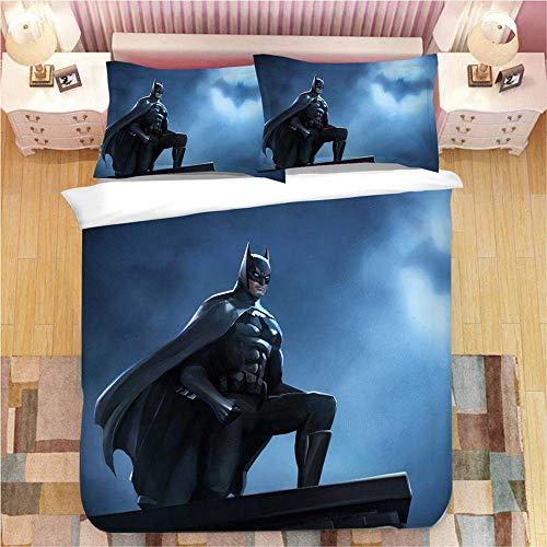 299 Duvet Cover Sets 3D Batman Printing Christmas Bedding Set 100% Polyester Duvet Cover 3 Pieces With 2 Pillowcases Q-UK King230*220cm