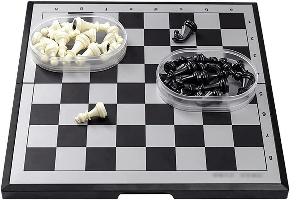YHYH Chess excellence Magnetic Folding Set Regular dealer Storag Plastic 2 with Oval