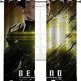 Aotuma Star Trek Film Space Personnage Affiche protagoniste Draps Fenêtre Obscurcissement de la Chambre à coucher Rideaux occultants Isolants Isolants pour Chambre d'enfant 137,2 cm L x 213,4 cm L