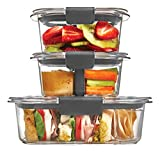 Rubbermaid Brilliance Plastic Food Storage Container, Sandwich and Snack Lunch Kit, 10 Piece Set,...