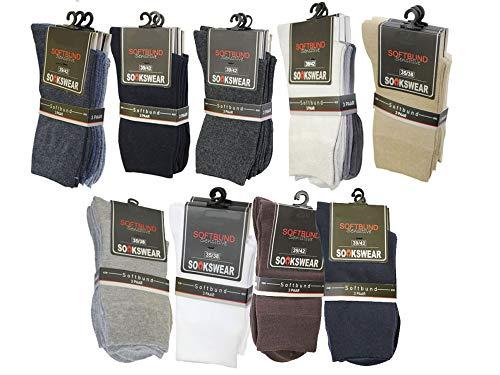 Sockswear Business Socke - 3er Pack - Socken mit druckfreiem Abschlussrand sensitive, Farbe:schwarz, Größe:47-50