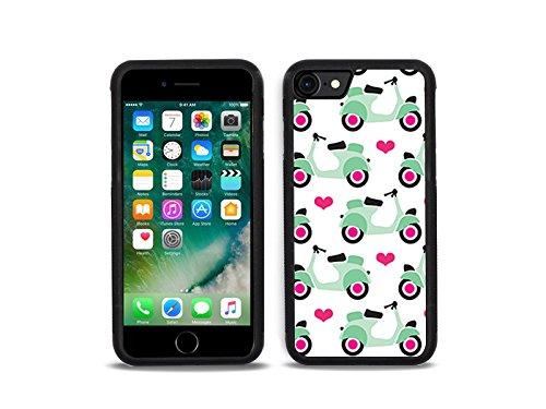 etuo Handyhülle für Apple iPhone 7 - Hülle Hybrid Fantastic - Pastell-Motorroller - Handyhülle Schutzhülle Etui Case Cover Tasche für Handy
