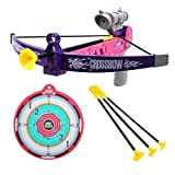 SubClap Bow and Arrow Archery Set Toy for Kids with 3 Suction Cups Arrows, Target Play Crossbow Game Practice Outdoor Shooting Toys for Boys Grils, Suit for 6 and Up Years Old, Pink