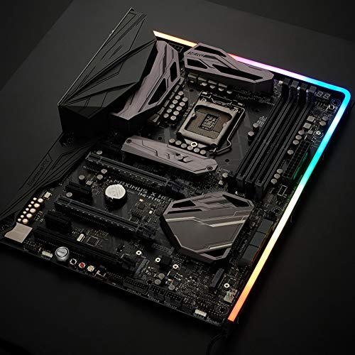 Tira de luz LED para ordenador de PC, controlador M-5, lámpara con 550 mm ARGB Phantom Streamer de neón uniforme de luz chasis decorativo barra de luz