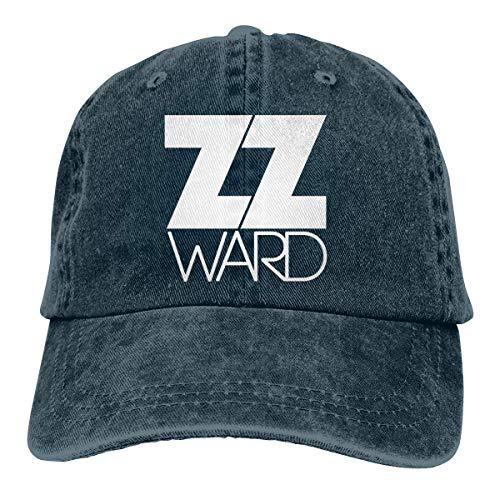 Vicky Bonnet réglable unisexe en jean avec bonnet ZZ Ward lavé - Bleu - Taille Unique
