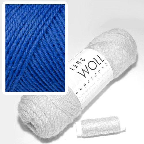 Lang Jawoll Superwash Sockenwolle Farbwahl (06 - blitzblau)
