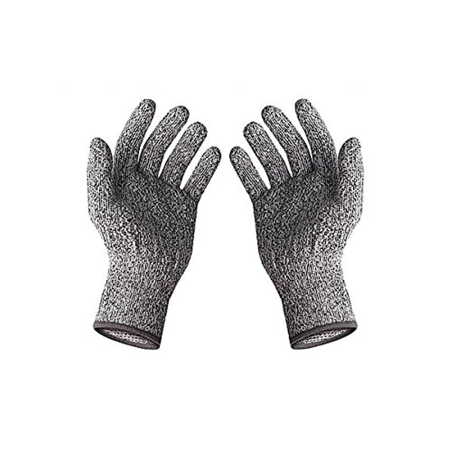 MIRACLE 切れない手袋 防刃手袋 左右セット 軍手 耐刃手袋 防刃グローブ 作業用手袋 DIY 大工 (Sサイズ) MC-HPPETE-S
