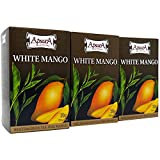 Té de Mango Blanco Apsara, juego de 3 (60 bolsitas de té), té verde y té blanco muy fragante con una nota afrutada, maravillosa combinación de té blanco y té verde