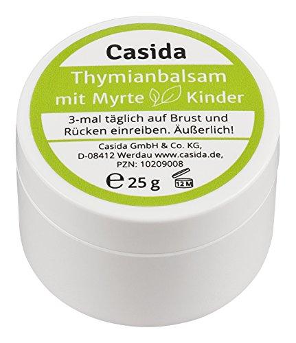 Thymianbalsam mit Myrte für Kinder 25 g - Pflege bei Husten und Erkältung für Kinder und Babys