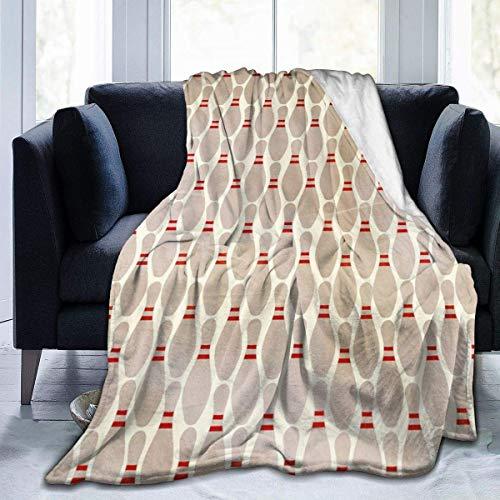 AEMAPE Manta de Tiro, Manta de Franela Ultra Suave, Cama Ligera, decoración Duradera para el hogar, Manta de Forro Polar, Manta de sofá para niños, Bolos, 50 x 40 Pulgadas