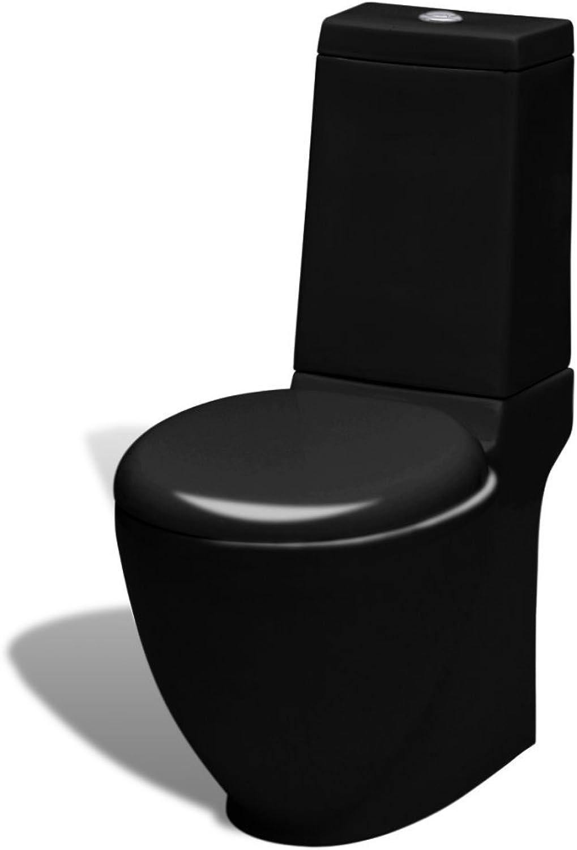 VidaXL Stand WC Bodenstehend Keramik Soft Close Sitz Spülkasten Rund Toilette