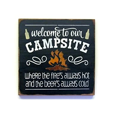 Camping Wood Sign / Campsite Decor / Welcome to Our Campsite
