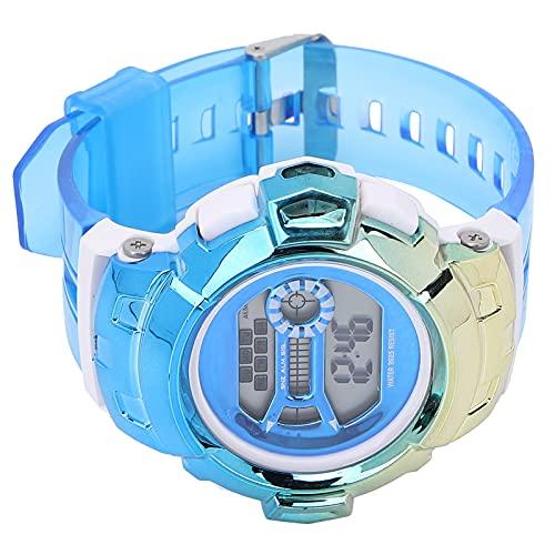 KAKAKE Reloj Digital, Reloj Digital Impermeable con Modo De Tiempo 12 / 24H para Diversas Ocasiones