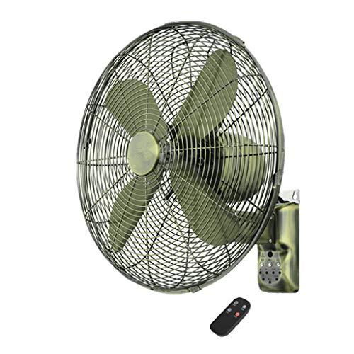 Ventilador electrico Ventilador de Pared Retro Industrial, Metal oscilante, Control Remoto Inteligente Temporizador Ventilador silencioso (16/18 / 20in)