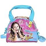 PERLETTI - Bolso Niña Disney Soy Luna con Bandolera - Bolsos de Hombro Chica Joven de Viaje Sport Escuela - Bolsa de Mano Estampado Rosa Azul - 17x22x11 cm