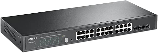 TP-Link 24 Port Gigabit Switch | Smart Managed Switch with 4 10GE SFP+ Slots | Stackable | Lifetime Protection | Support Q...