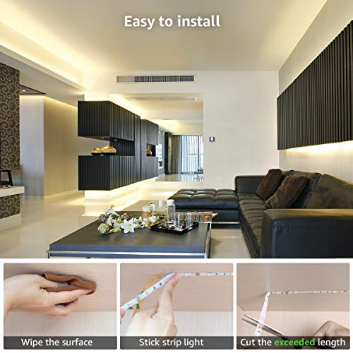 LED Strip Lights 32.8ft, RGB LED Light Strip, 5050 SMD LED Color Changing Tape Light with 44 Key Remote and 12V Power Supply, LED Lights for Bedroom, Home Decoration, TV Backlight, Kitchen, Bar 5