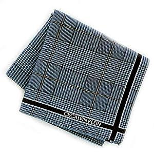 カルバンクライン 紳士 ハンカチ (ブルー) 大判 [綿100%] ビジネス メンズ ハンカチーフ 48cm カルバンクライン 119033-0551-02