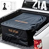 FIERYRED Truck Cargo Bag with Cargo Net,100% Waterproof Heavy Duty Truck Bed Storage Bag, 8 Rubber Handles Fits Any Truck, Size: 50' L x 40' W x 22' H (25.5 Cubic Feet)
