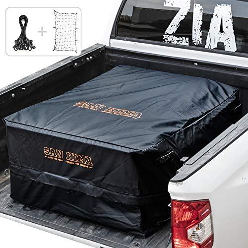 FieryRed Truck Cargo Bag with Cargo Net,100% Waterproof Heavy Duty Truck Bed Storage Bag, 8 Rubber...