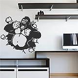 STICKERSFORLIFE ik2873 Wall Decal Sticker Gorilla Monkey King Kong Living Room Bedroom