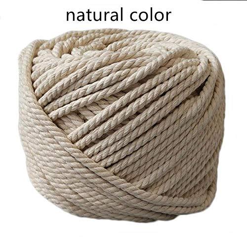 AOM katoenen koord, wit, natuur, katoenen koord, dik, handgemaakt, tas, decoratief knutselen, behang, gevlochten touw, pakket gebonden 3mmX200m