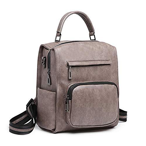 Miss Lulu Leather Look Multi-Way Backpack Shoulder Bag For Women- Fashion Leather Large Designer Travel Bag Ladies Shoulder Bags, Anti-Theft Backpack