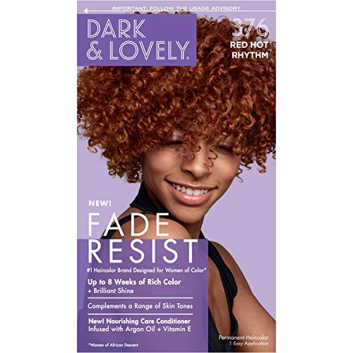Permanent Hair Color by Dark and Lovely Fade Resist I Up to 100% Gray Coverage Hair Dye I Red Hot Rhythm 376 I SoftSheen-Carson I Packaging May Vary Colorado