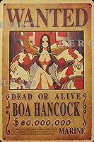 海賊アニメBOA HANCOCKボア・ハンコック さびた錫のサインヴィンテージアルミニウムプラークアートポスター装飾面白い鉄の絵の個性安全標識警告バースクールカフェガレージの寝室に適しています