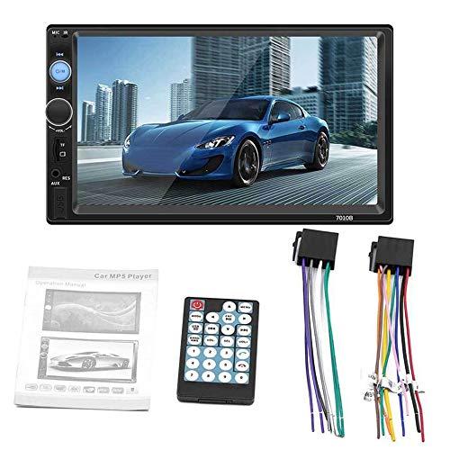 QiKun-Home 7010B 7 Pulgadas Doble 2DIN Coche MP5 Reproductor BT Pantalla táctil Radio estéreo HD Reproductor Multimedia Compatible con la Misma Pantalla Negro