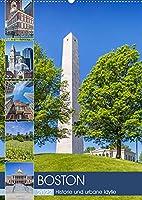 BOSTON Historie und urbane Idylle (Wandkalender 2022 DIN A2 hoch): Sehenswuerdigkeiten und Wahrzeichen (Monatskalender, 14 Seiten )