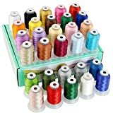 New brothread 30 Nouvelles Janome Couleurs Polyester Fil Machine à Broder 500M - Assortiment 1