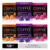 Bestpresso Coffee for Nespresso Original Machine 120 pods Genuine Espresso Intense Variety Pack, Pods Compatible with Nespresso Original