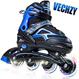 VECHZY Comfortable Adjustable Inline Skates with Light up Wheels, Beginner...