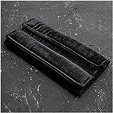 GAOJIAN Almohadillas Protectores de Coche Hombro Funda de Hombro de cinturón de Seguridad de Felpa Corta,Alargar Mantener Caliente Suministros para automóviles GM Seat Belt Pads Black