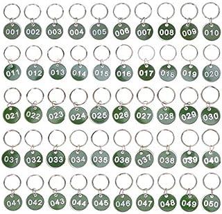 علامات الأرقام من INGATO علامة سلسلة مفاتيح معدنية رقم 1-50 رقم تعريف العلامات العلامات التعريفية علامات التعليق علامات ال...