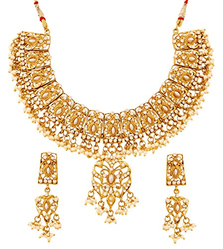 Touchstone Mughal Indio Bollywood Perlas de imitación Crist