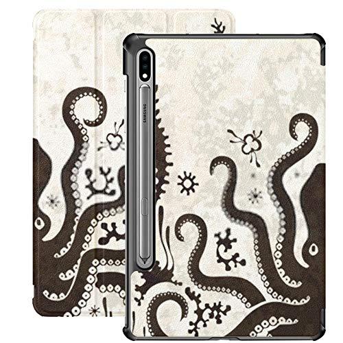 Funda Galaxy Tablet S7 Plus de 12,4 Pulgadas 2020 con Soporte para bolígrafo S, Figura de mitología Griega de la Cultura Antigua minoica Funda Protectora con Soporte Delgado para Samsung