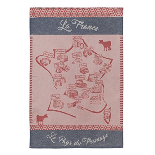Coucke - Torchon Carte Fromagère 50X75cm rouge